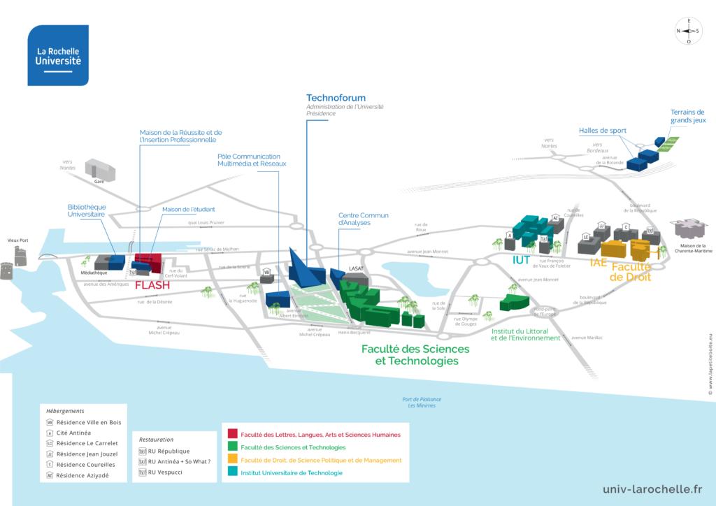 Plan général de l'Université de La Rochelle