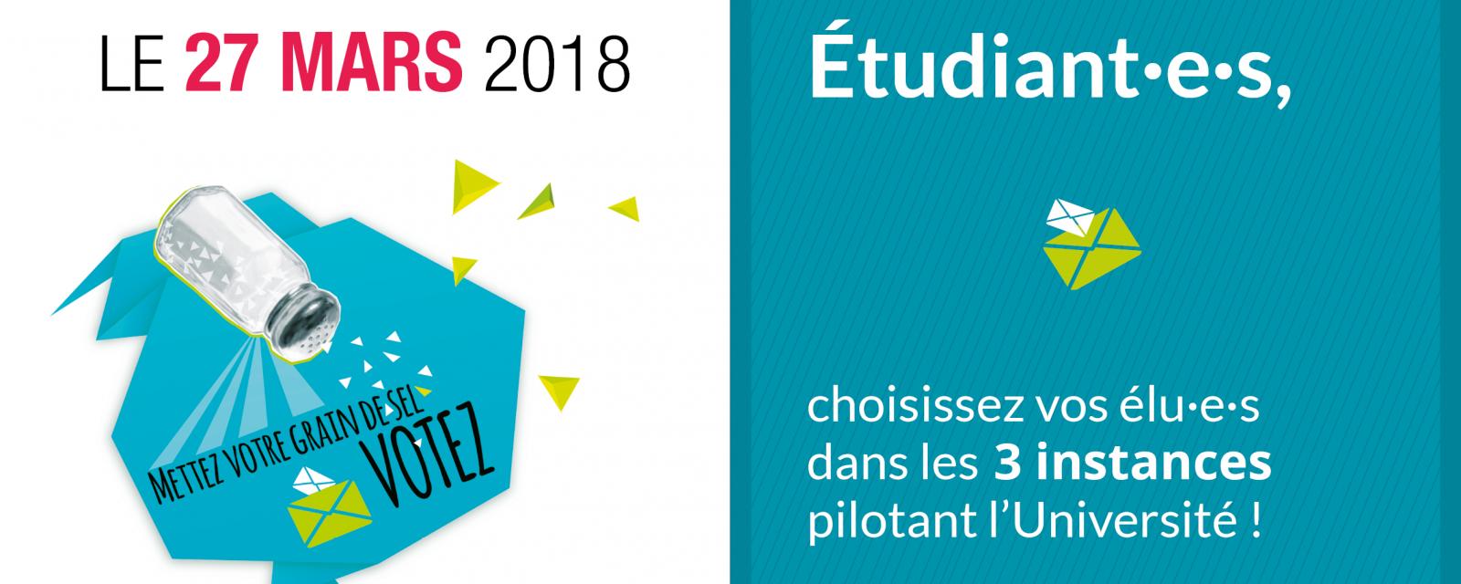Élections étudiantes le mardi 27 mars 2018