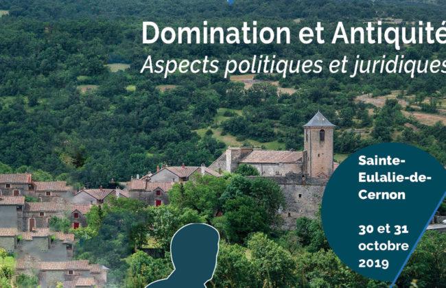 Colloque «Domination et Antiquité - Aspects politiques et juridiques» 3