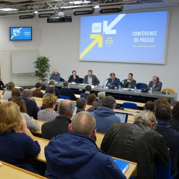 Conférence de presse sur les Grands projets de l'Université