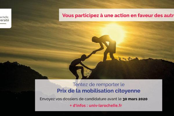 ÉTUDIANTS, ÉTUDIANTES, PARTICIPEZ AU PRIX DE LA MOBILISATION CITOYENNE 1