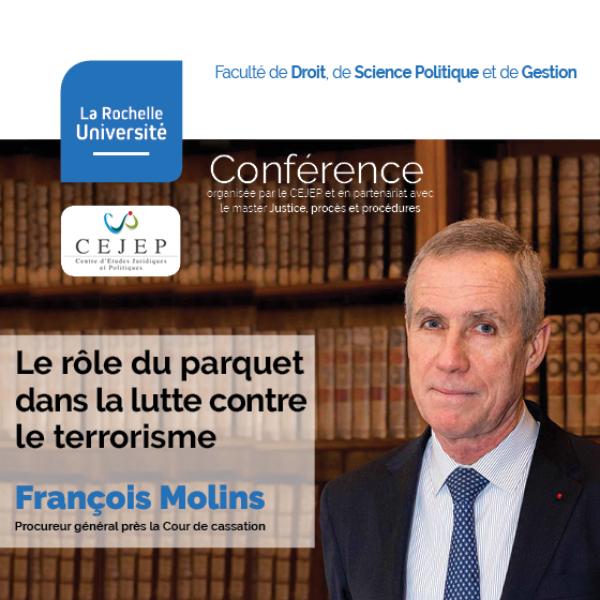 François Molins en conférence à La Rochelle Université