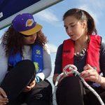 Participation de deux étudiantes à la course de l'EDHEC grâce au partenariat avec le Crédit Agricole