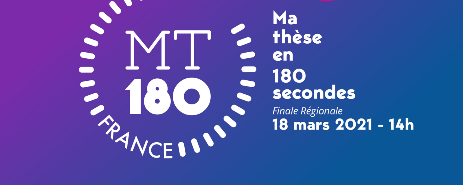 Suivez la finale régionale du concours MT180 en ligne