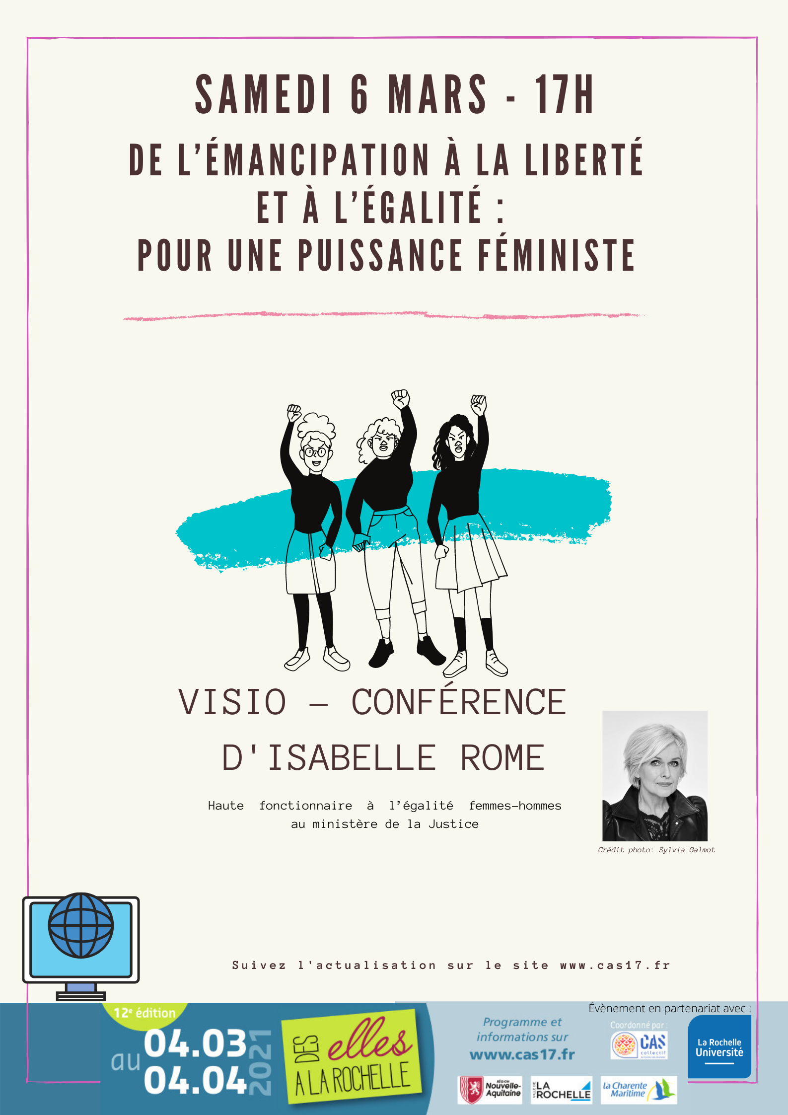 """Assistez à la conférence """"De l'émancipation à la liberté et à l'égalité : pour une puissance féministe"""""""